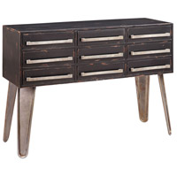 Woodrow 46 X 16 inch Black/Golden Brown Console Table