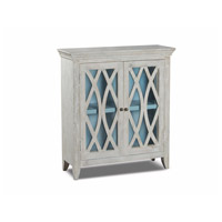 Stein World 13289 Marigot Whitewash and Light Blye with Antique Bronze Accent Cabinet