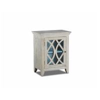 Stein World 13290 Blanche Whitewash and Blue Accent Cabinet