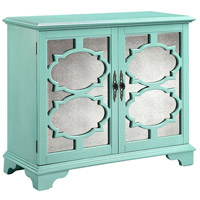 Stein World 13379 Candice Turquoise and Antique Mirror Cabinet