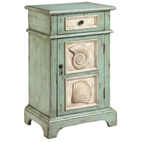 Hastings 30 X 19 inch Green and Cream Chairside Table
