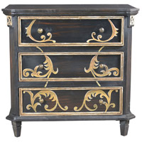 Khan Charcoal and Gold and Antique Brass Cabinet