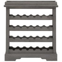 Hoda Black-Grey Wine Cabinet