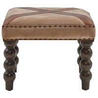 Tilson Brown/Dark Brown/Nail Head Bench