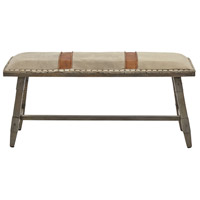 Amiya Brown/Grey/Light Grey Bench