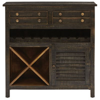 Tillman Black/Hand-Painted Cabinet