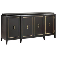 Lange 72 X 20 inch Satin Black and Gold Credenza