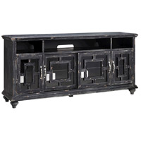 Barado 72 X 18 inch Black and Brown Entertainment Console Home Decor