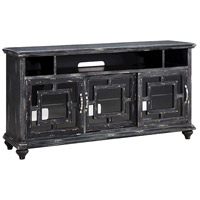 Barado 64 X 18 inch Black and Brown Entertainment Console Home Decor