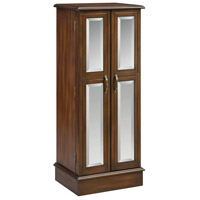 Ellis 46 inch Chestnut and Wood-Tone Jewelry Armoire