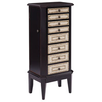 Corie 42 inch Brown and Cream Jewelry Armoire