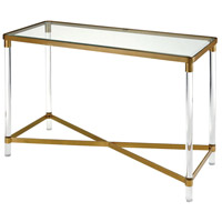 Konig 45 X 19 inch Gold/Clear Console Table