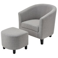 Elana Grey Linen Chair