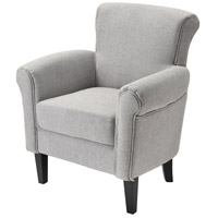Mims Grey Linen Chair