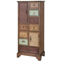 Stein World 16946 Engell Mahogany Tone Stain/Multi-Colored Hand Painted Chest