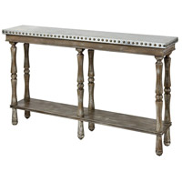 Rhodes 58 X 12 inch Warm Oak/Antique/Galvanized Metal Top Console Table