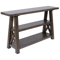 Manteo 58 X 14 inch Farmhouse Grey Brown Stain Console Table