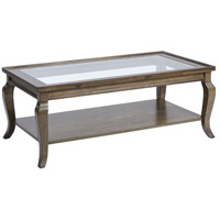 Dutton 48 X 19 inch Antique Brown Coffee Table