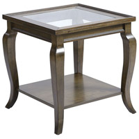 Dutton 23 inch Antique Brown Side Table