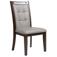 Lyman Grey Faux Leather Fabric/Arabica Rubber Wood Chair