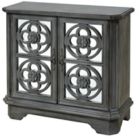 Stein World 17038 La Roche Aged Gray Wash and Antique Gold Leaf Cabinet