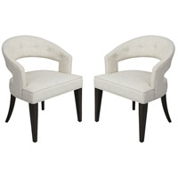 Cavendish Antique White Linen with Walnut Chair