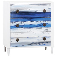 Drift White/Wooden Plank Art Chest