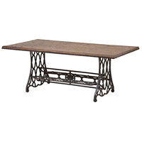 Jane Rae 50 X 28 inch Pewter/Brown Coffee Table