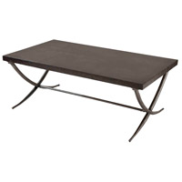 Valencia 48 X 28 inch Black and Antique Silver Cocktail Table Home Decor