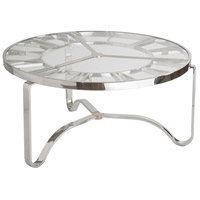 Benjamin 36 inch Chrome/Gold Coffee Table