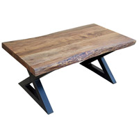 Living On The Edge 50 X 26 inch Brown and Black Cocktail Table Home Decor