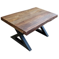 Living On The Edge 40 X 24 inch Brown and Black Cocktail Table Home Decor