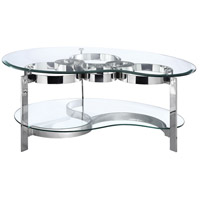Stein World 410-019 Mercury 52 X 34 inch Stainless Steel Cocktail Table