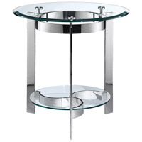 Mercury 24 X 24 inch Stainless Steel End Table Home Decor, Round