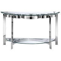 Mercury 50 X 19 inch Stainless Steel Demilune Sofa Table Home Decor