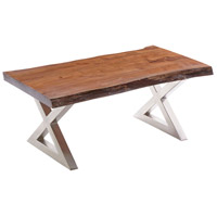 Living on the Edge 50 X 26 inch Brown/Silver Coffee Table