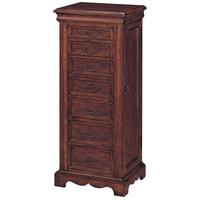 Stein World 42506 Winston 46 inch Cherry Jewelry Armoire thumb