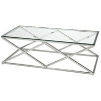 Manhasset 47 X 24 inch Chrome Coffee Table