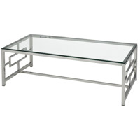 Winter Palace 47 X 24 inch Chrome Coffee Table