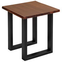 South Loop 18 inch Dark Brown and Black Side Table