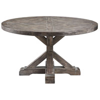 Bridgeport 36 X 36 inch Weathered Grey Cocktail Table Home Decor, Round