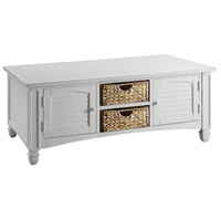 Nantucket 50 X 30 inch White Cocktail Table Home Decor