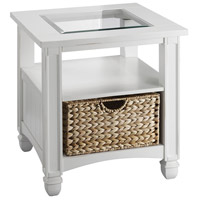 Nantucket 23 X 23 inch White End Table Home Decor