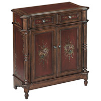 Chamberlin Burgandy and Walnut Accent Cabinet