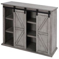 Barn Door 48 X 14 inch Grey Entertainment Console
