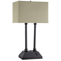 Stein World 76032 Frankel 28 inch 150 watt Matte Black Table Lamp Portable Light