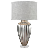 Stein World 76075 Clothilde 33 inch 150 watt Silver Glass/Clear Acrylic Table Lamp Portable Light