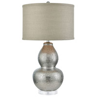 Stein World 76080 Dimples 28 inch 150 watt Silver-plated Ceramic/Clear Acrylic Table Lamp Portable Light