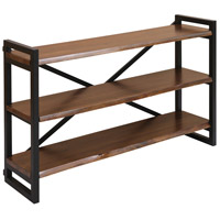 South Loop 48 X 29 X 12 inch Dark Brown and Black Sofa-Back Shelf