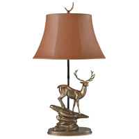 Stein World 77003 Roosevelt Elk 28 inch 150 watt Cold-cast Bronze Table Lamp Portable Light
